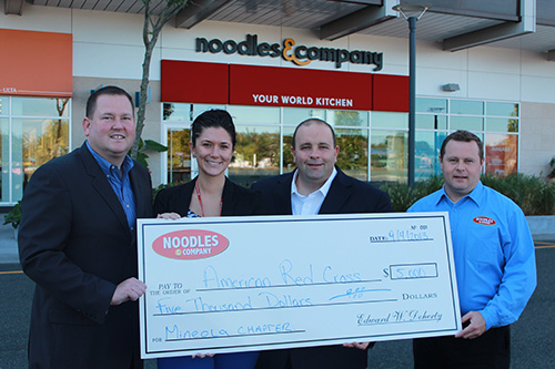 Noodles Amp Company Donates 5 000 To American Red Cross On