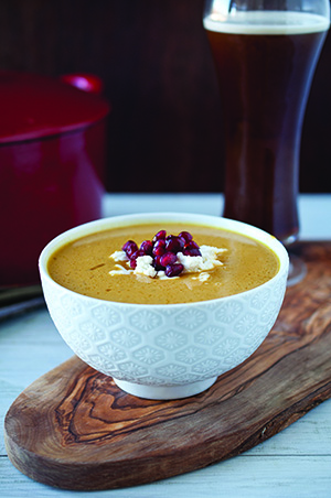 ... Bisque with Goat Cheese and Pomegranate Brown Ale-brined Roast Turkey