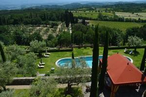 Villa Il Palagio_View from top fl. Bedroom