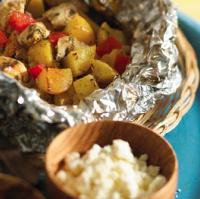 Mediterranean Lemon Chicken and Potatoes