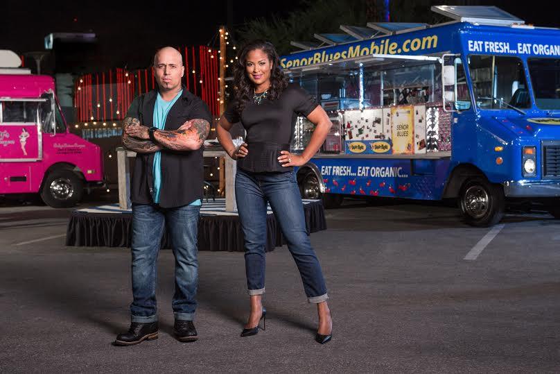 "Laila Ali and chef Vic ""Vegas"" Moea FYI"