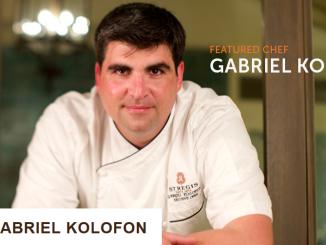 F&B Magazine : Chef of the Month Chef Gabriel Kolofon