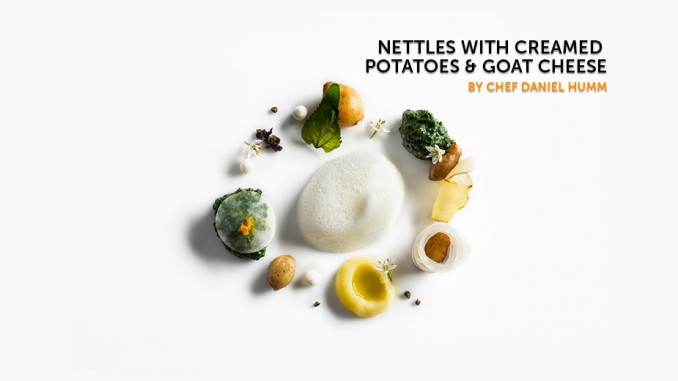Nettles With Creamed Potatoes & Goat Cheese