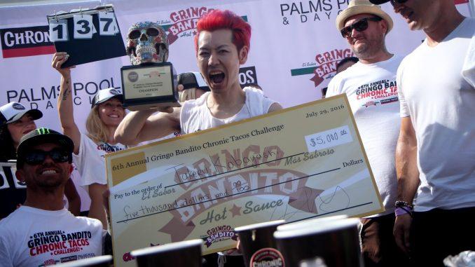 Chronic Taco Eating Contest - Winner Takeru Kabayashi