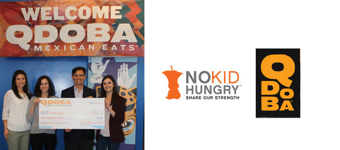Kiss For A Cause! Qdoba Donates $10,000 To No Kid Hungry