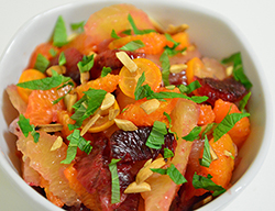 Citrus Salad with Lemon Grass Toasted Almonds and Mint