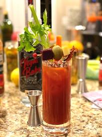 Vegas Baby Vodka Bloody Mary for the touchdown