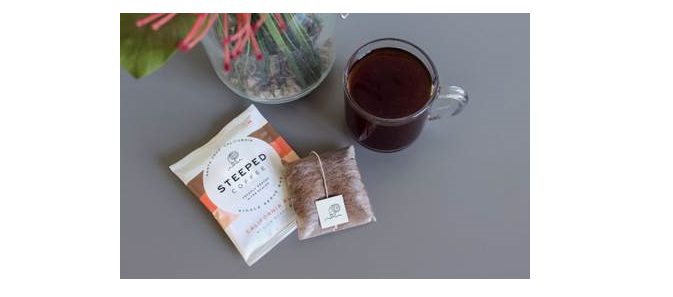 """STEEPED COFFEE LAUNCHES THE """"PACKS FOR GOOD"""" GIVING PROGRAM TO FIGHT HUNGER;  20% OF SALES DONATED TO PARTNERED CHARITIES"""