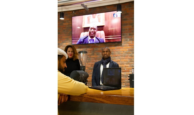 GLOBAL HUMANITARIAN AND AMERICAN NBA HALL OF FAMER DIKEMBE MUTOMBO JOINS THE DMCC COFFEE CENTRE