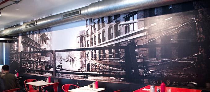 Restaurant Designers Hunger for Photo-Real Wallpaper Art