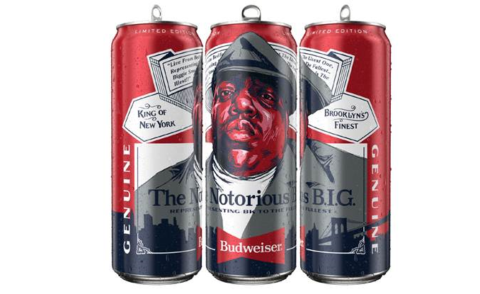 Budweiser Introduces Limited-Edition Notorious B.I.G. Cans in Partnership with Christopher Wallace Estate