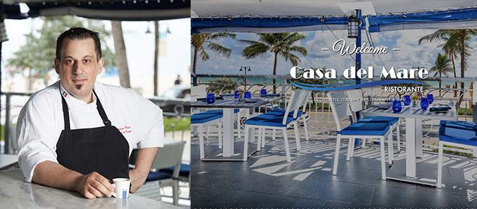 Fabrizio Polizzi New Chef & Partner at Casa Del Mare Ristorante Fort Lauderdale