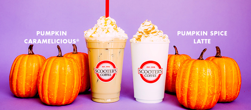 Fall for Pumpkin Spice Lattes, Pumpkin Caramelicious® and More as Scooter's Coffee Unveils New Fall Menu