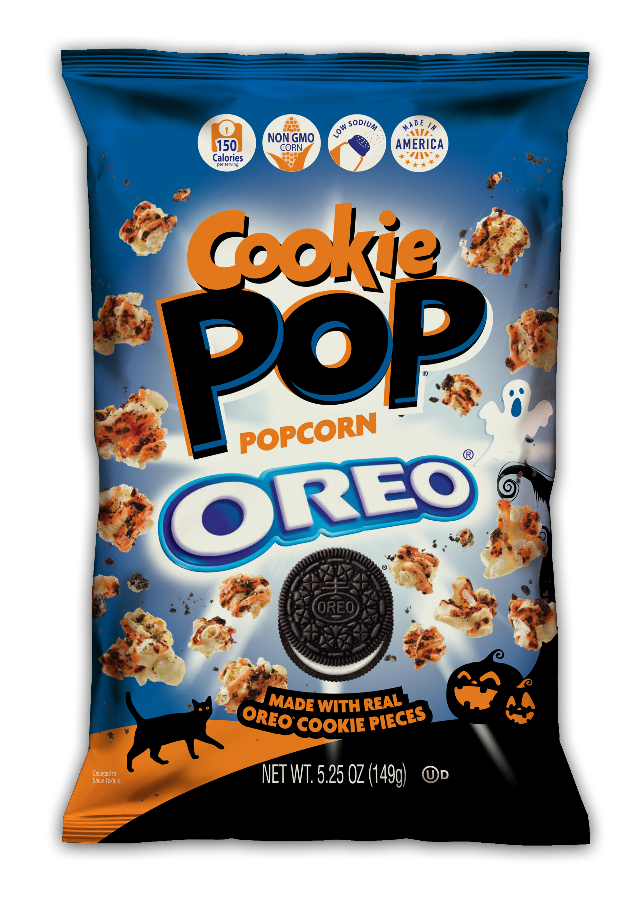 THE RETURN OF COOKIE POP'S SPOOKTACULAR SPECIAL EDITION HALLOWEEN COOKIE POP OREO® POPCORN MADE WITH REAL COOKIE PIECES, BACK BY POPULAR DEMAND