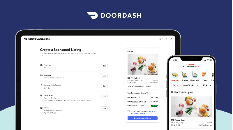 DoorDash Launches Suite of Ad Offerings with Self-Serve Sponsored Listings to Empower Growth for Restaurants